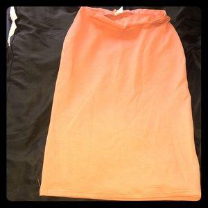 Peach knee skirt